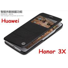 Rock Huawei Honor 3X Autowakeup S-View Flip Case Cover Casing + Gift