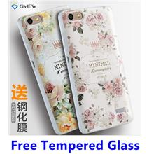 Huawei Honor 4C 3D Relief Back Case Cover Casing + Tempered Glass