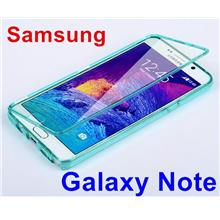 Samsung Galaxy Note 3 4 5 Transparent Flip Case Cover Casing + Gift