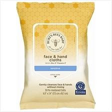 Burt's Bees Baby Face  & Hand Cloths, Unscented Cleansing Wipes - 30 Wipes/ Sh