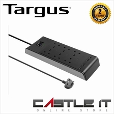 TARGUS SURGE PROTECTOR 6-PLUGS WITH 2-USB 2M (APS11AP-50)