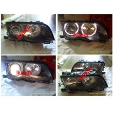 EAGLE EYES BMW E46 4D '98-01 LED Projector Head Lamp+Corner HL-002-BMW