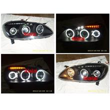 Toyota ALTIS '01 Projector Head Lamp 6-CCFL Ring LED Eye Brown Black