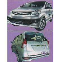 Toyota Avanza '12-13 Full Set Body Kit PPU Material Skirting