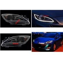 Mazda 3 '10 Projector Cool Starline DRL R8 Head Lamp Black/Chrome Hous