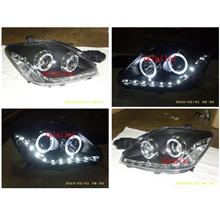 Toyota Vios '07 LED Ring Projector Head Lamp LED DRL R8 [1-pair]