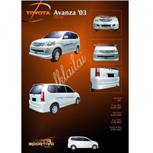 Toyota Avanza '03 Full Set Skirting OEM Style PU Body Kit