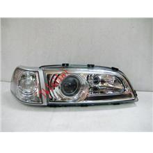 VOLVO S70 Projector Head Lamp +Corner Lamp Glass Lens [Chrome Housing]
