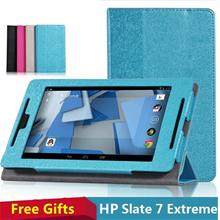 HP Slate7 Extreme Flip Case Cover + Free Gifts