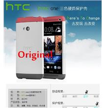 ORIGINAL HTC One M7 801e 801s Hard Shell Double Dip Back Case Cover