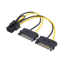HIGH QUALITY 2X SATA (M) TO 6 PIN POWER CABLE FOR GRAPHIC CARD CA230A