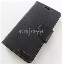 Mercury CANVAS Diary Case Cover Asus Zenfone 2 @5.0' ZE500CL ~BLK *XPD