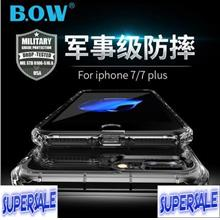 Military Armor Transparent Silicone Casing Case Cover for iPhone 7