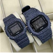 Casio G_shock Couple Jeans Dw-5600 Jam Tangan.. - [J.BLACK]