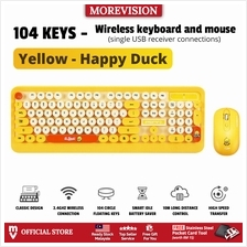 USB Wireless Keyboard and Mouse Set K68 Retro Round Punk Party