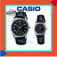 V001l Men's/women's Analogue Casual Leather Watch Wit - [COUPLE BLACK]