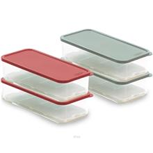 ECONCEPT 2-In-1 Freezer Food Organizer Rectangle 1700ml BPA Free Acrylic - E-8)