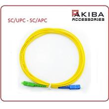 3m SM Simplex Fiber Optic Patch Cord Cable SC/UPC to SC/APC