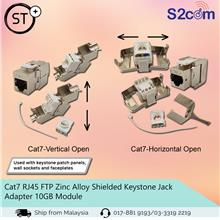 Cat7 RJ45 FTP Zinc Alloy Shielded Keystone Jack Adapter 10GB Module
