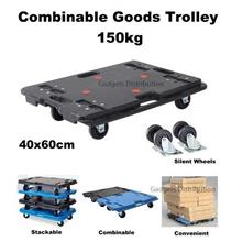 Combinable Joinable Stackable Hand Goods Trolley 150kg 60*40cm 2620.1