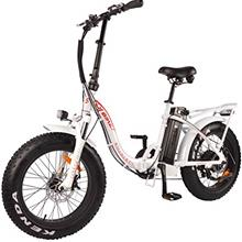 DJ Folding Bike Step Thru 750W 48V 13Ah Power Electric Bicycle, Pearl White, L