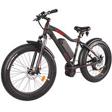 DJ Mid Drive Fat Bike 750W 48V 13Ah Power Electric Bicycle, Matte Black, LED B