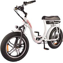 DJ Super Bike Step Thru 750W 48V 13Ah Power Electric Bicycle, Pearl White, LED