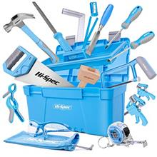 Hi-Spec 25 Piece Beginner Carpentry Tool Set with Tool Box, Wood Carving Tools