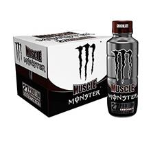 Muscle Monster Chocolate Energy Shake, Protein + Energy Drink, 15 ounce (Pack