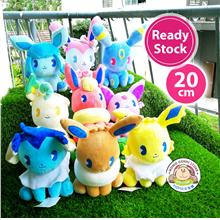 Pokemon Pikachu Soda Eevee Evolution Soft Plush Toy Doll Per Set (20cm
