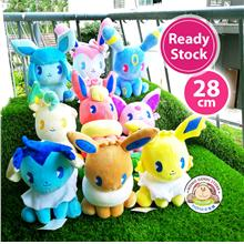 Pokemon Pikachu Soda Eevee Evolution Soft Plush Toy Doll Per Pc (28cm)