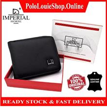 Original Imperial Horse Men's High Quality Leather Zip Wallet Luxury