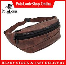 Original Polo Louie (L) Luxury Trending Leather Waist Pack Pouch