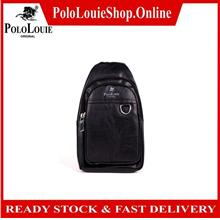 Original Polo Louie Men Stylish Leather Crossbody Bag Chest  Bag