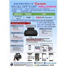 NEW Canon PIXMA SFP  TS307