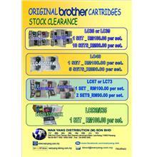 BROTHER ORIGINAL  CARTRIDGES STOCK CLEARANCE