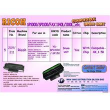 Ricoh SP1000,SP1100,FAX 1140L,1180L MONO  DRUM  UNIT