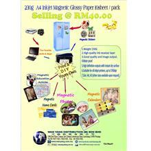 A4 230g Inkjet Magnetic Glossy Paper 10sheet / pack