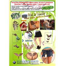 A4 size ,Temporary inkjet/LASER tattoos paper,  5 sheet/pack