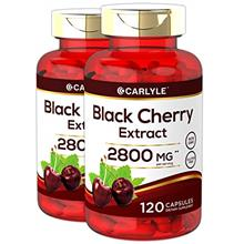 Black Cherry Capsules 2800 mg 240 Count | Non-GMO, Gluten Free | from Extract