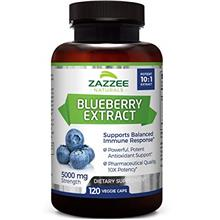 Zazzee Whole Fruit Blueberry Extract, 5000 mg Strength, 120 Veggie Capsules, P