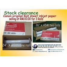 Canon original Roll sheet inkjet paper stock clearance