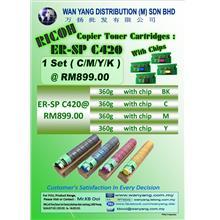 Ricoh  SPC 420 CMYK / COLOUR COPIER  COMPATIBLE TONER CARTRDIGES