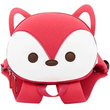 [BUY 1 FREE 1] Nohoo Little Foxes-M Red Backpack (3 to 5 Years Old) - NHB-087M)
