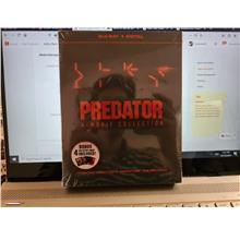 PREDATOR 4 FILM COLL BLU RAY SET 4 DISCS + COLLECTOR CARD US IMPORT