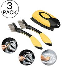 ETERNA 3pc Car Wheel Clean Brush Set, Automotive Care Detail Tools, Premium Sc