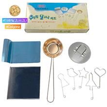 Korean Sugar Candy Dalgona Stainless Cooking Set (Dalgona Fancy Sticker includ