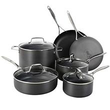 Othello 10-Piece Hard Anodized Cookware Set Nonstick, Professional Quality Pot