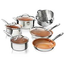 Gotham Steel 10 Piece Pro Chef Cookware Set Premium Copper Nonstick Pots and P