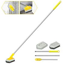 2 in 1 Cleaning Brush Tub and Tile Scrubber Brush Sponge with 46'' Extenda